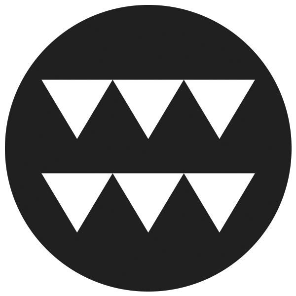 Malama Mahaulepu Logo a black circle with two rows of triangles